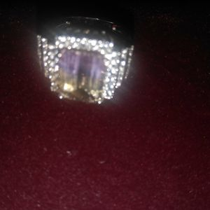 Size 7 for women ring silver 925@nd topaz for Sale in Bellflower, CA