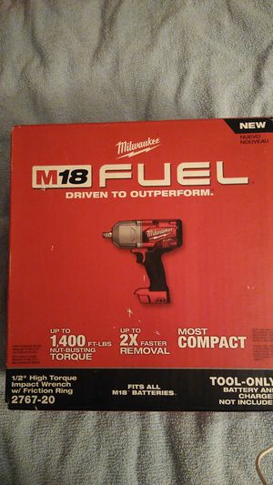 Milwaukee M18 fuel half inch high torque impact wrench with friction ring for Sale in Santa Ana, CA