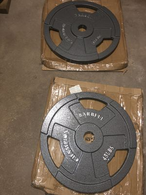 Champion Barbell 45lb plate set (2) for Sale in New Britain, CT