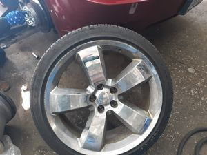 Set of 20 chrome rims for a charger for Sale in Cleveland, OH
