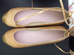 Gold ballerina flats for Sale in Manassas, VA