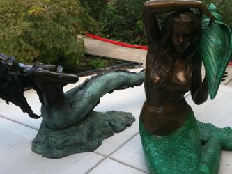Vintage Mermaid Fountain And Mermaid Coffee Table for Sale in Chicago,  IL