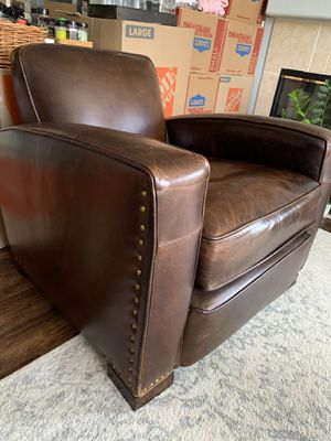Restoration Hardware Leather Chair for Sale in Chula Vista, CA