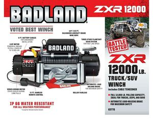 BADLAND ZXR 12000LB. TRUCK/SUV WINCH for Sale in Chula Vista, CA