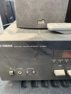 Yamaha receiver and Polk audio speakers for Sale in Hanford, CA