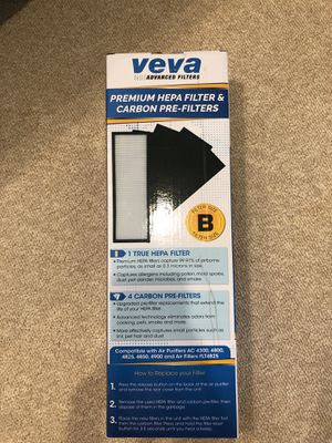 Veva Advanced Filters; Hepa Filter & Carbon Pre filter for Sale in Middletown, MD