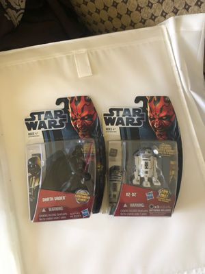Star Wars figures with sound set of 2 $25 for Sale in South Gate, CA