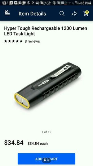 1200 lumen rechargeable flashlight for Sale in Oklahoma City, OK
