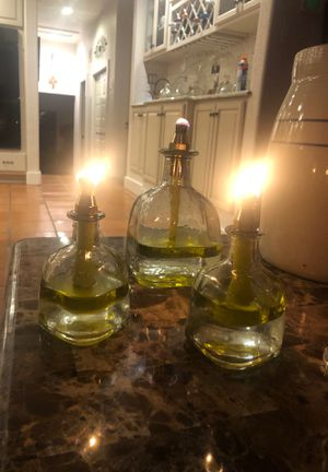 Patron bottle oil lanterns set of three for Sale in Helotes, TX