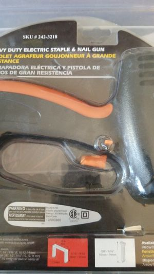 New in Package- MintCraft Heavy Duty Electric Staple & Nail Gun (Model A702) for Sale in Laveen Village, AZ