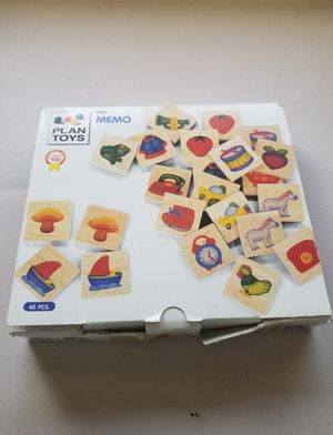 Wooden Memory Game 40 Pieces for Sale in Miami, FL