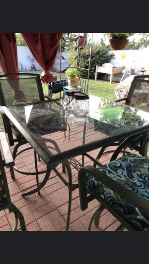 Glass table w/4 chairs for Sale in La Habra, CA