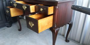 Antique Vanity Dresser/ Hall table/ stationary unit Solid Mahogany Wood refinish with a Mahogany. stainFREE DELIVERY for Sale in Dundalk, MD