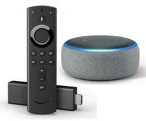 Amazon fire TV stick 4K bundle with Alexa echo dot for Sale in Boynton Beach, FL
