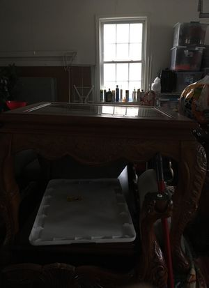 Along with the 2 glass top end tables, I have a matching coffee table for $50.00 or all 3 pieces for $85.00 Firm for Sale in Durham, NC