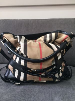 Burberry Black Bridle Canvas Hobo Bag for Sale in Wheeling, IL