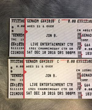 John B Concert TONIGHT $15 for Sale in Columbus, OH