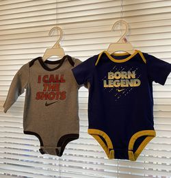 Two Nike bodysuit 9 and 3/6 months for Sale in Stone Mountain,  GA
