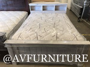 Solid wood full bed and mattress for Sale in Montebello, CA