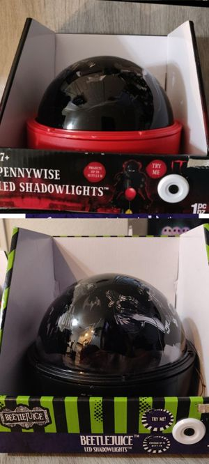 Pennywise & Beetlejuice Halloween light projector for Sale in Ontario, CA
