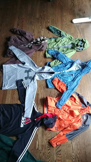 7 jackets hoodies North Face REO Marmot Hurley Under Armour hoody jacket kids boys girls for Sale in Bellevue, WA