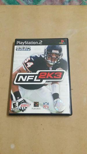 NFL 2k3, PS2 for Sale in El Cajon, CA