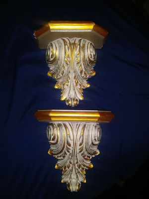 Vintage Home Interiors Plastic Ornate Wall Shelves for Sale in Bell, CA