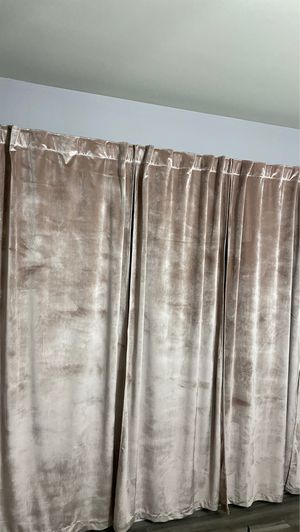 Rose gold curtain panels for Sale in Lake in the Hills, IL
