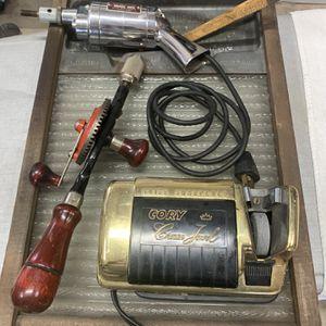 Antique Washboard, Drill, Paint Brush Cleaner, Knife Sharpener & Ruler for Sale in Duboistown, PA