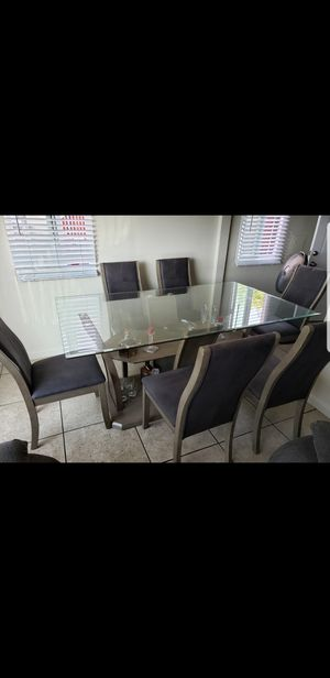 Dinning Table Set 6 People for Sale in San Diego, CA
