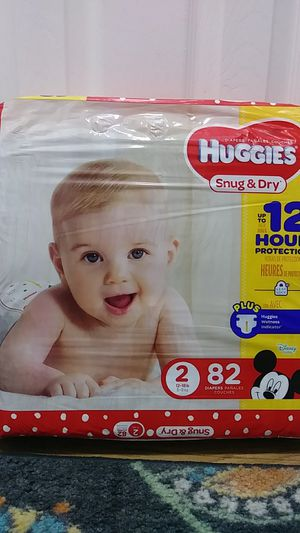Huggies Snug & Dry Size 2 diapers 82 count $20 for Sale in West Covina, CA