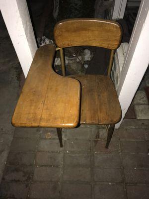Antique wooden school desk/chair for Sale in San Dimas, CA