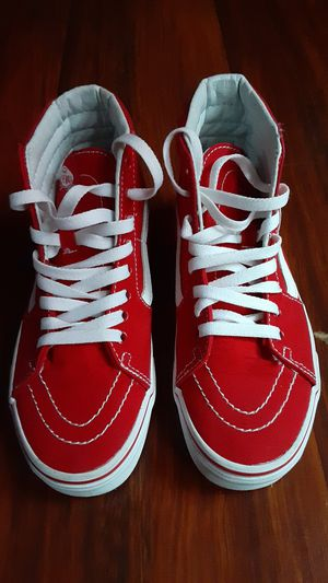 High top red Van's. Size 5.5 in womans and size 4 in men's. for Sale in Reading, PA
