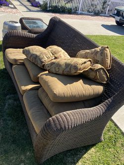 Free! Outdoor Couch With Cushions And Coffee Table for Sale in Hawthorne,  CA