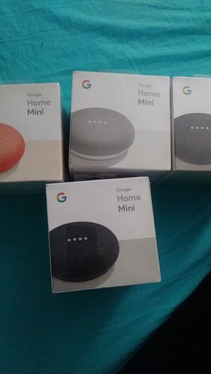 Google home minis 3 colors brand new 40 obo for Sale in El Cajon, CA