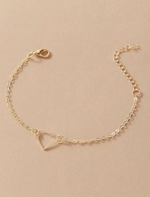 Beautiful NEW hollowed heart charm anklet for Sale in San Diego, CA