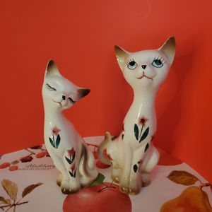 Floral Cats Salt & Pepper Shakers Japan for Sale in Palm Bay, FL