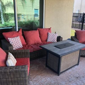 Patio Furniture. Couch. Chair. Firepit. High top. Sun deck chairs for Sale in Kissimmee, FL