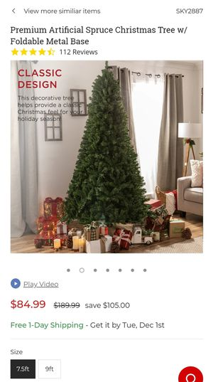 7.5ft Premium Artificial Spruce Christmas Tree for Sale in Columbia Station, OH
