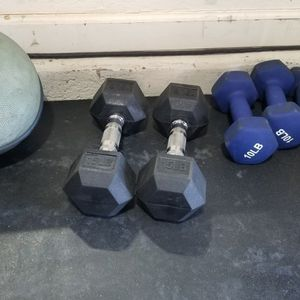 Free Weight Dumbbells And Curl Bars for Sale in Gilbert, AZ