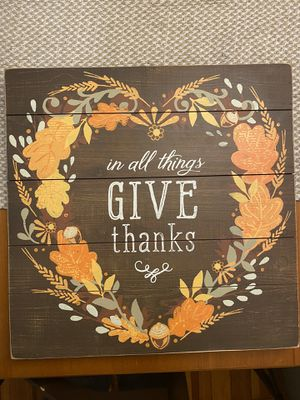 *NWT* Give Thanks Decor for Sale in Cambridge, MA