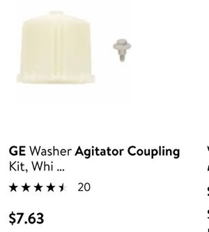 New: GE Washer Agitator Coupling Kit, White for Sale in Greenville, MS