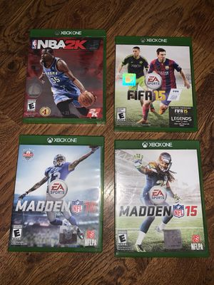 Xbox One sports game Madden NBA2k and FIFA for Sale in Miami, FL