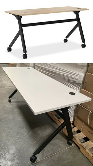New in box HON Flip Base Laminate Top Office Computer Desk Conference Table 60x24x30 inches Tall removable Locking Wheels Retail Value $500 for Sale in Whittier, CA