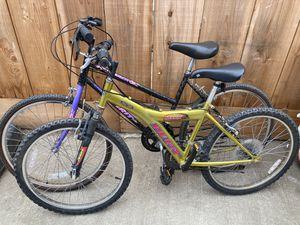 Two Mountain Bikes good condition for Sale in Salinas, CA