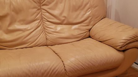 Leather Loveseat - Free for Sale in Richmond,  CA