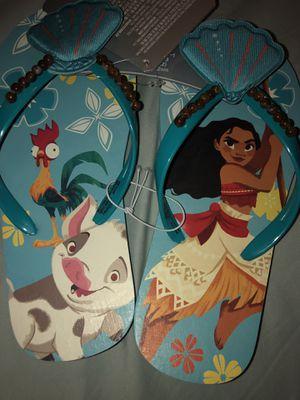Disney's Moana girls flip flops size 2/3 for Sale in Miami, FL