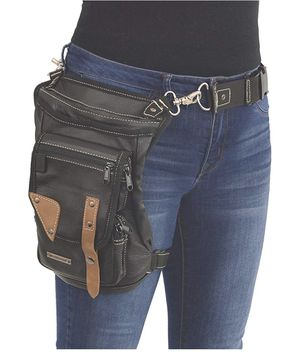 Conceal & Carry Leather Thigh Bag w/Waist Belt for Sale in Garden Grove, CA