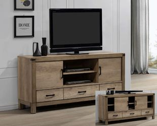 NEW, Matteo 68 Inch TV Console in Light Gray Wood Finish, SKU# B3200-7 for Sale in Midway City,  CA