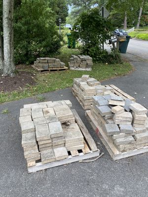 Used English Cobble color tan mixed with grey Pavers! Most go asap! for Sale in Richmond, VA